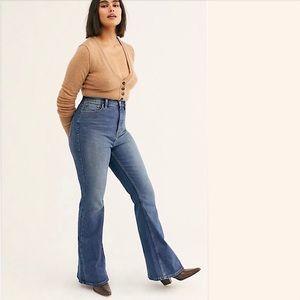 NWOT Free people curvy vintage flare stretch jeans